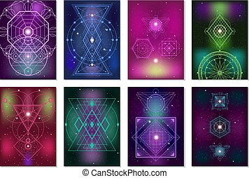 Sacred Geometry Colorful Banners Collection - Popular sacred...