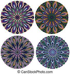Sacred Geometry Pattern - Modern Flower of life design in...