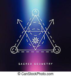 Sacred geometry sign, photo overlay