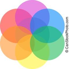 Sacred geometry symbol - Cute nice symmetric mandala made by...