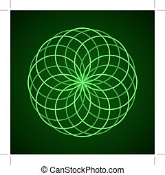 Sacred Geometry. Symbol of Harmony.
