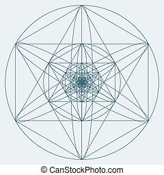Sacred geometry symbol or element. Alchemy, religion,...