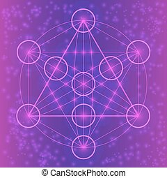 Sacred geometry symbols and elements. Flower of life....