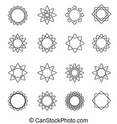 Sacred geometry. symbols elements