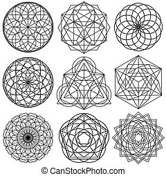 Sacred Geometry Symbols vector - set 02 - The Sacred...