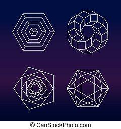Sacred geometry vector set