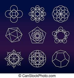 Sacred geometry vector set - Sacred geometry. Alchemy, ...