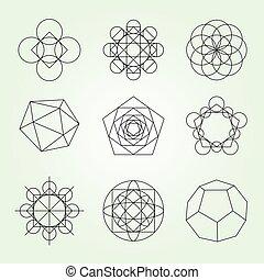 Sacred geometry vector set - Sacred geometry. Alchemy,...