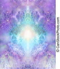 Sacred healing background - Intricate lace-like lilac and ...