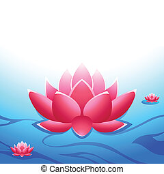 Sacred lotus at the heaven's garden