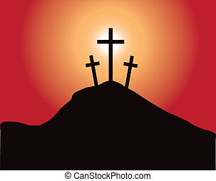Sacred mountain Golgotha on which Misters our Jesus Christ have crucified