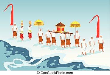 Sacred Parade Of Bali Hindu - Hindus on Indonesia's island...