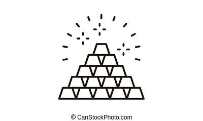 Sacred Pyramid Icon Animation. black Sacred Pyramid animated icon on white background