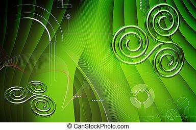 Sacred symbol - Digital illustration of sacred symbol in...