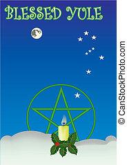 Yule - Sacred Wiccan holiday Yule greeting card