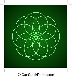 sacro, geometry., simbolo, di, harmony.