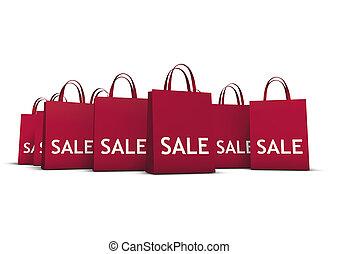 sacs, concept, achats, vente