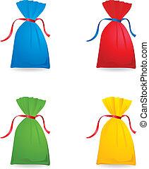 sacs, couleur, ensemble