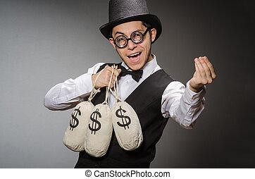 sacs, homme argent