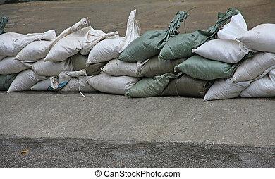 prot ger contre inondation sacs sable pendant rivi re inondation. Black Bedroom Furniture Sets. Home Design Ideas