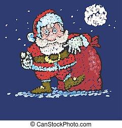 sacs, santa, you., grand, claus, dons, va
