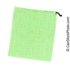 sacs, toile sac, isolé, arrière-plan vert, blanc