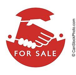sacudida, :, transacción, venta, mano