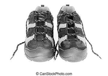 sacudindo, sapatos