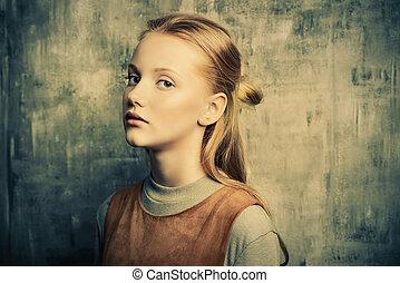 sad adolescent girl
