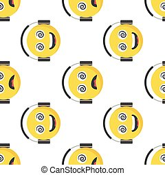Funny Emoticon seamless pattern