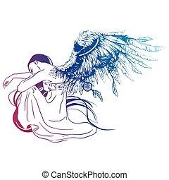 sad angel-01.eps