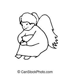 sad Angel cute little man