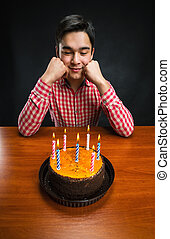Sad birthday boy