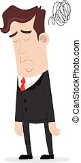 Clipart picture of a sad businessman cartoon character