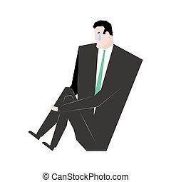 Sad businessman. sorrowful boss. Crying guy. Sadness manager