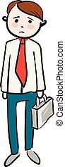 Sad businessman vector illustration