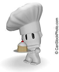 sad caricature of a cook