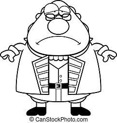 Sad Cartoon Ben Franklin