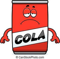 Sad Cartoon Cola Can