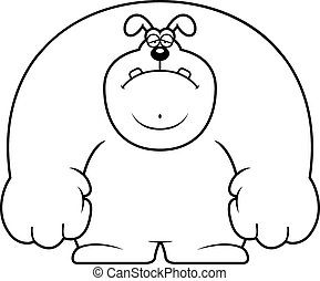 Sad Cartoon Dog