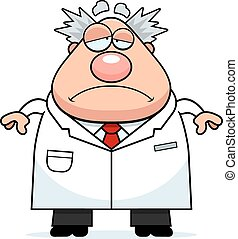 Sad Cartoon Mad Scientist