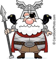 Sad Cartoon Odin