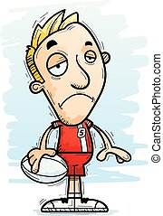 Sad Cartoon Rugby Player