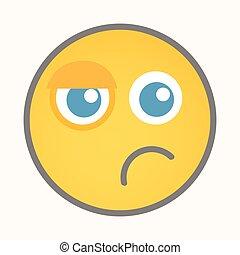 Sad - Cartoon Smiley Vector Face