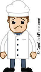 Sad Cartoon Vector Chef
