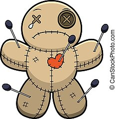 Sad Cartoon Voodoo Doll