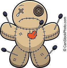 Sad Cartoon Voodoo Doll