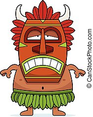 Sad Cartoon Witch Doctor - A cartoon illustration of a witch...