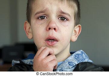 Sad child who is crying