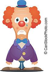 Sad Clown - Cartoon Character